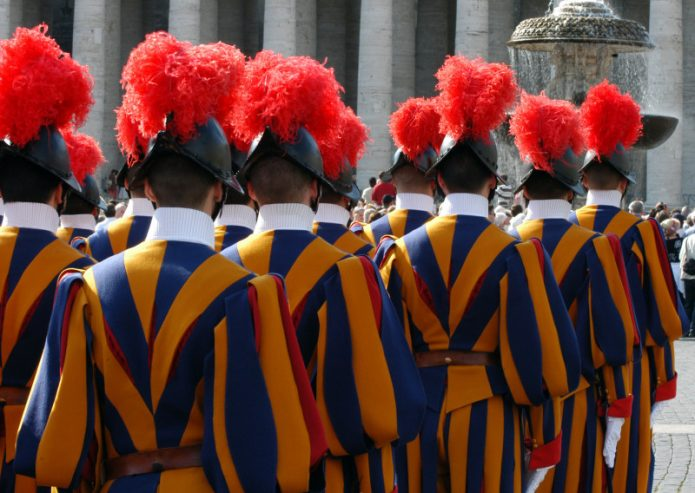 The Vatican has its own armed body: the Swiss guards