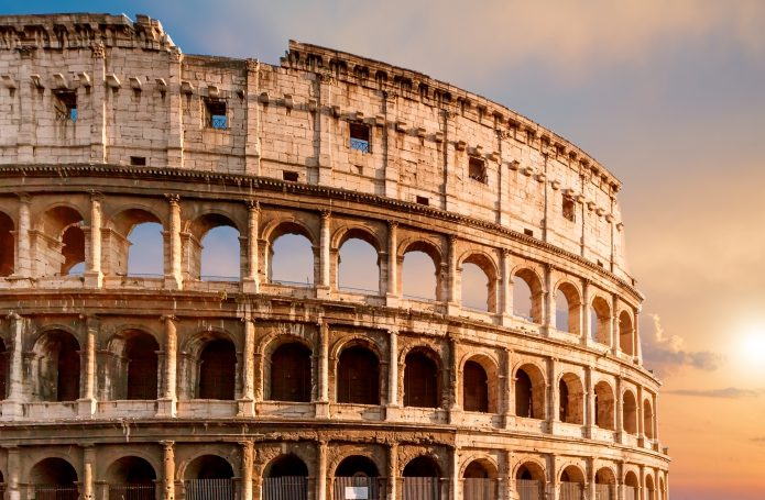 The Colosseum, one of Rome's main attractions. On-line tickets