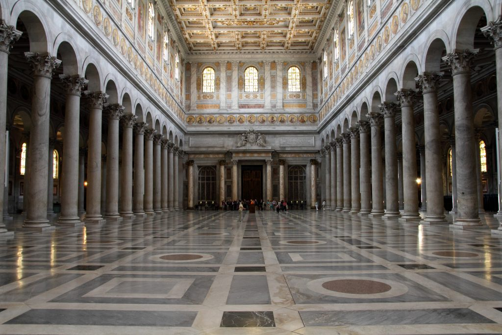 Rome's actractions: Basilica of St. Paul Outside the Walls