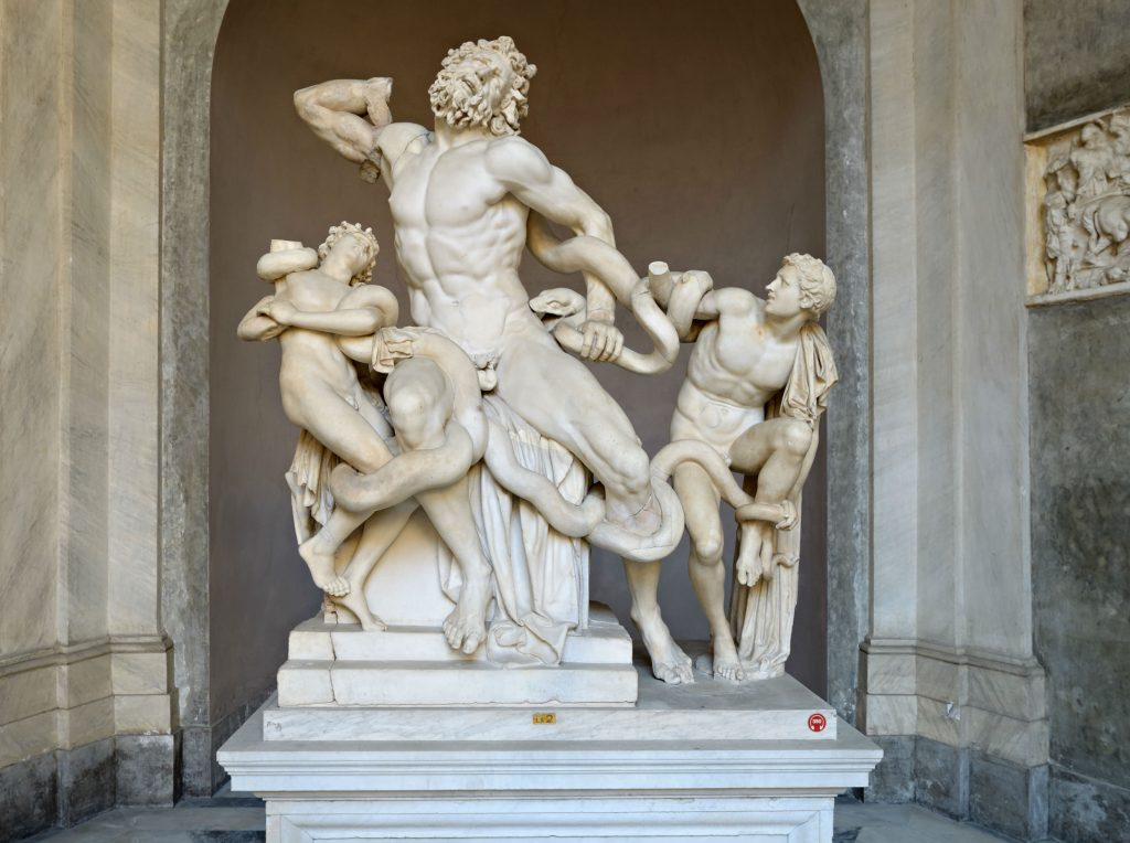 The Laocoonte group at the Vatican Museums. Buy the tickets online to skip the line