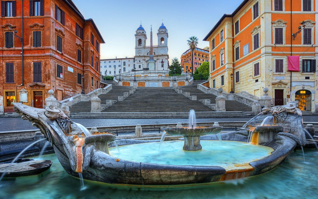 Piazza di Spagna, one of the most famous squares of Rome