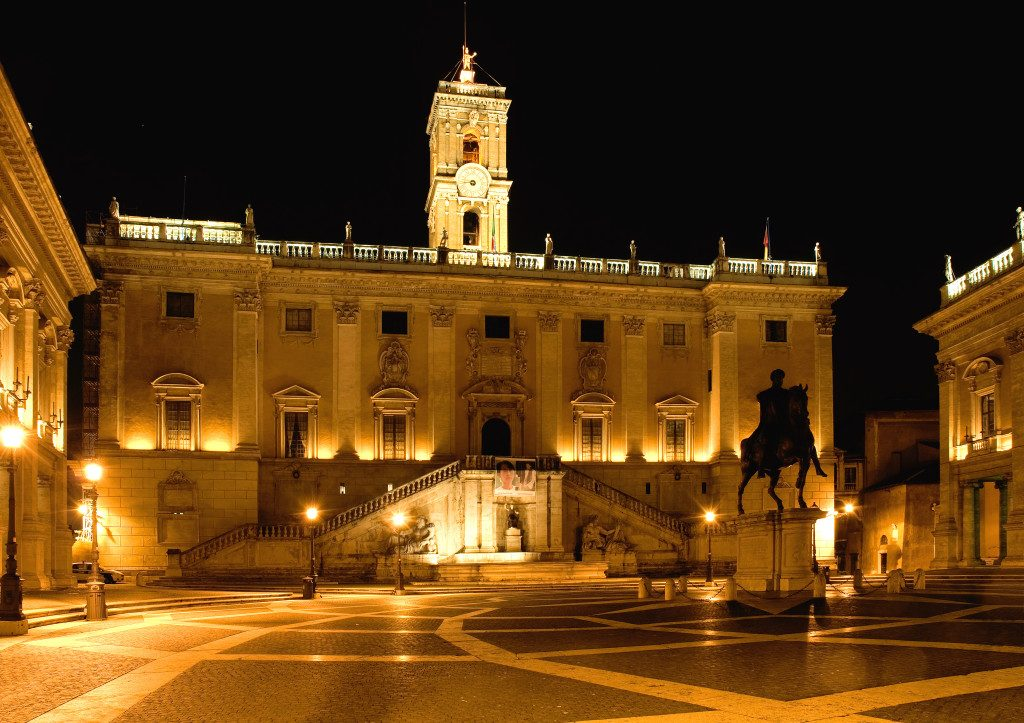 The Capitolini Museums in the piazza del Campidoglio of Rome