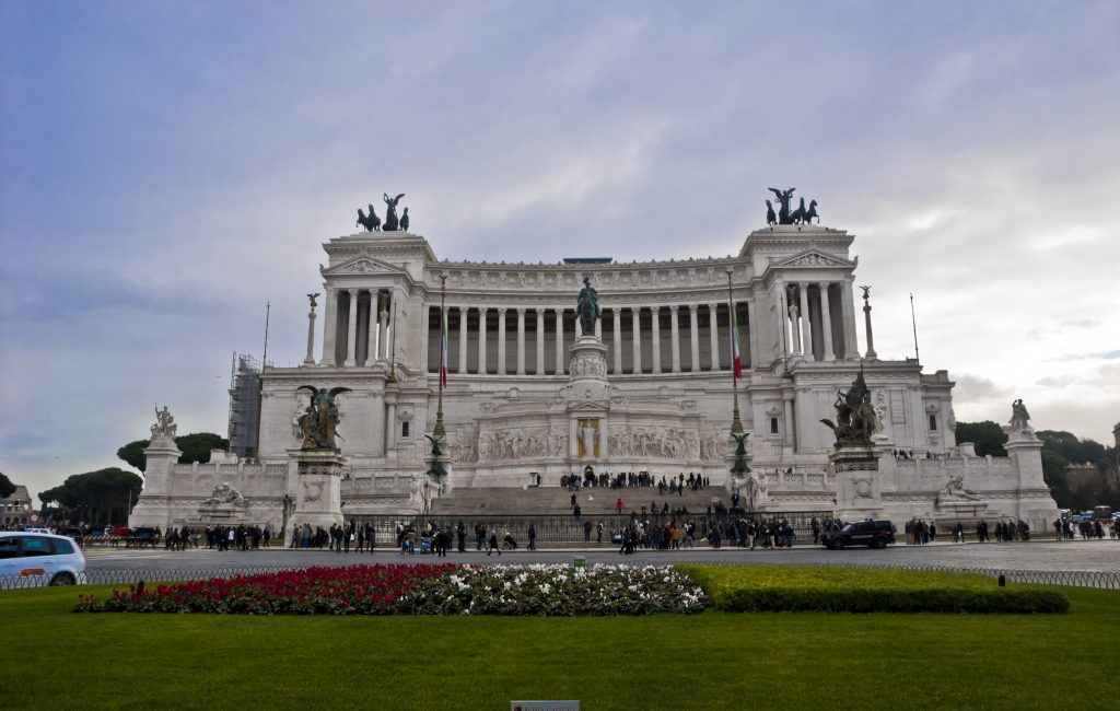 The Vittoriano, one of the main monuments of Rome