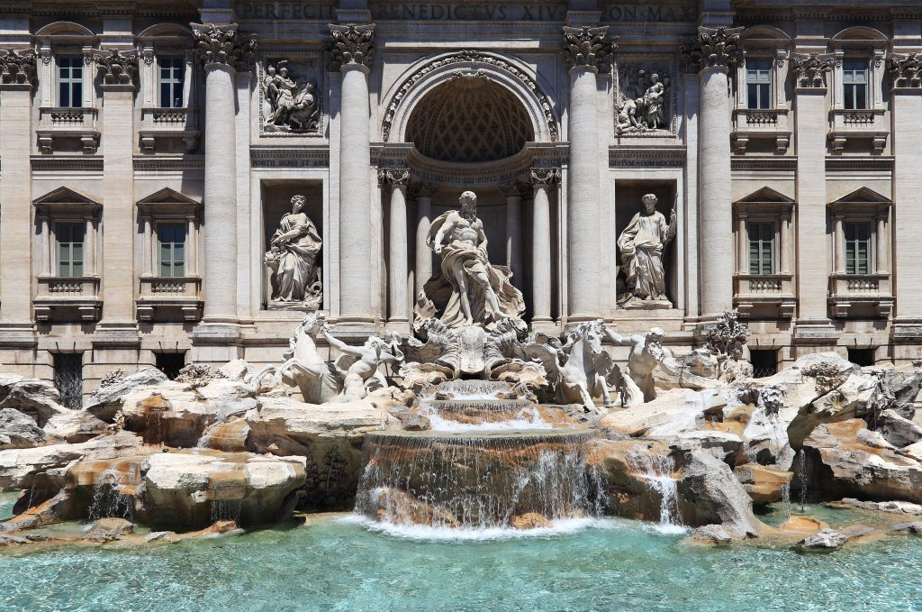 The Trevi Fountain in Rome, among the most spectacular attractions of the capital