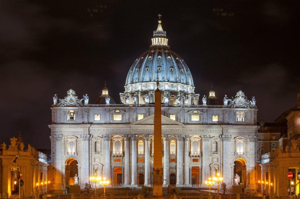 The amazing Basilica of San Pietro in Rome