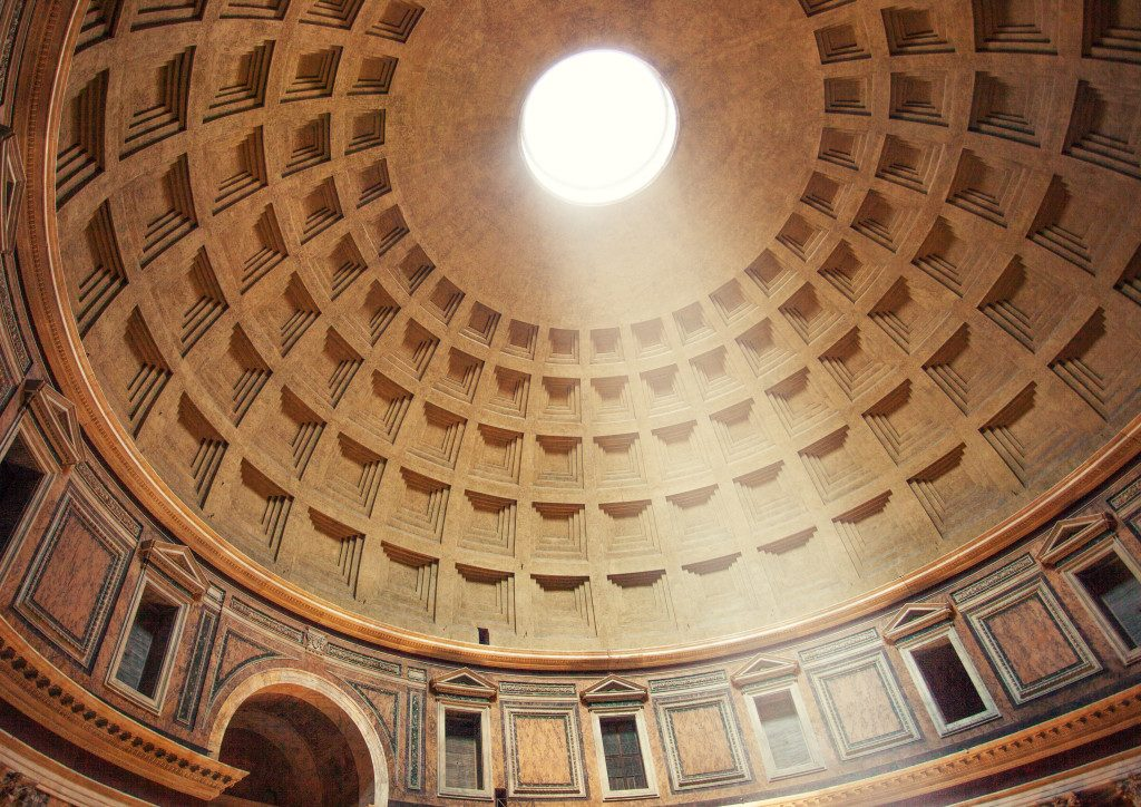 The beautiful Pantheon's dome in Rome
