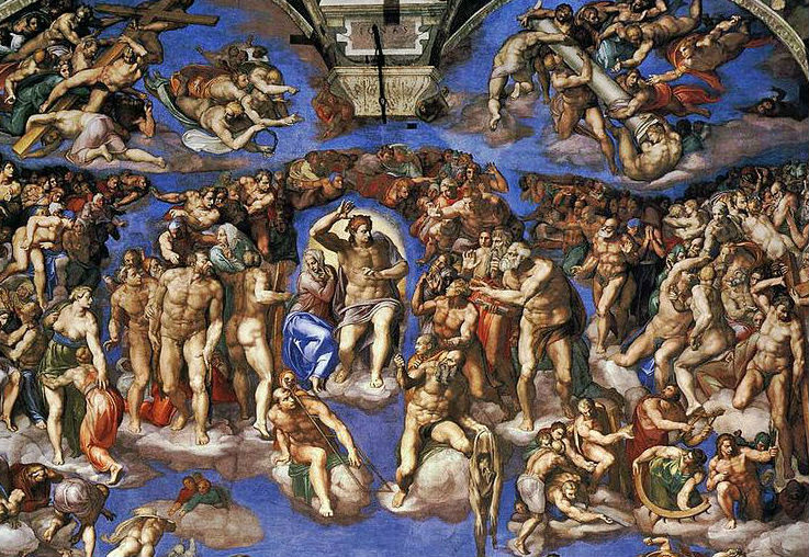 Sistine Chapel in Roma. The universal judgment